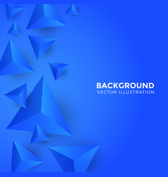 abstract shiny blue triangle background 3d vector image