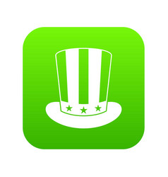 american hat icon digital green vector image