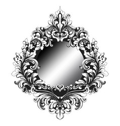 Baroque mirror frame french imperial vector