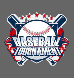 baseball badge logo vector image