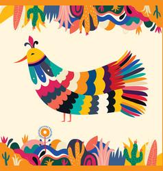 bird mexican vector image