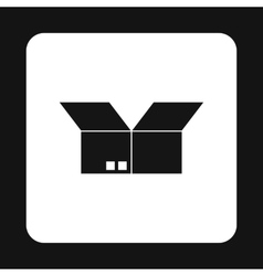 Box icon simple style vector image