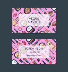 Business card template for beauty brand or vector