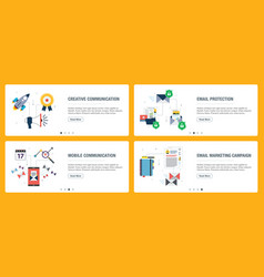 Business communication and email marketing vector