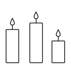 candles line icon vector image