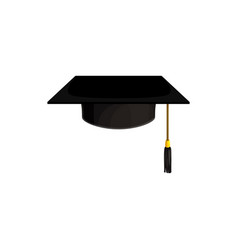 cap icon hat college and university education vector image