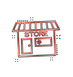 cartoon store house icon in comic style shop sign vector image