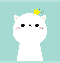 cat kitten face head icon kids print for poster vector image