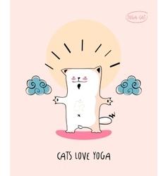 Cats Loves Yoga vector