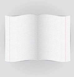 checkered notebook paper on gray background vector image