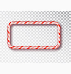 christmas candy frame isolated blank christmas vector image