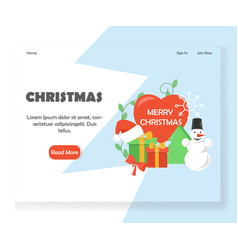 christmas website landing page design vector image