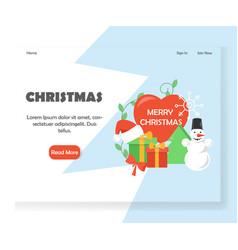 christmas website landing page design vector image