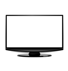 computer display blank screen isolated on white vector image