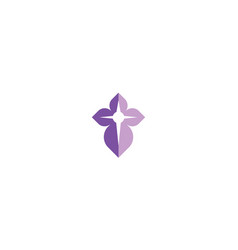 Cross religion logo icon vector