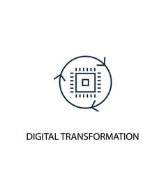 Digital transformation concept line icon simple vector