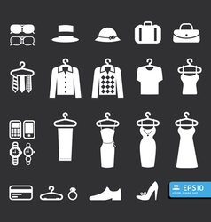 Elements clothing store icon vector