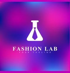 Fashion lab logo vector