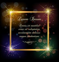 festive golden frame vector image