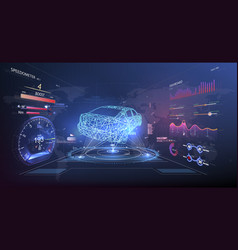 futuristic user interface hud ui abstract vector image