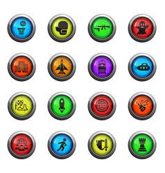 Game genre icon set vector