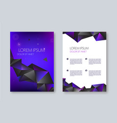 geometric abstract brochure design facet vector image