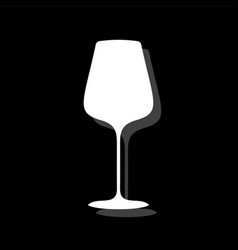 glass cup for wine or champagne icon flat vector image