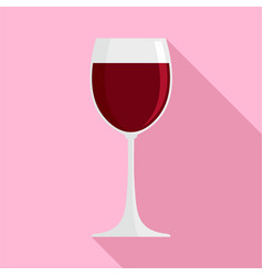 glass red wine icon flat style vector image