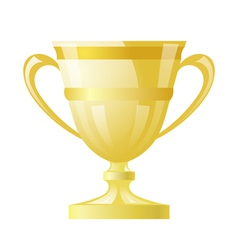 Gold cup on white background vector image