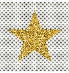 Gold glittering stars confetti vector