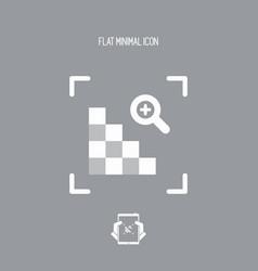 Grainy image - minimal flat icon vector