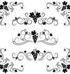 Grape design elements vector