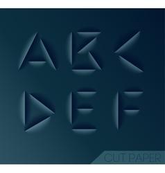 Graphic Alphabet Set vector image