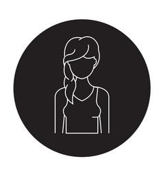hair loss black concept icon hair loss vector image