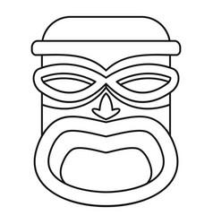 Hawaii wood tiki idol icon outline style vector