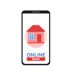 home icon on smartphone screen rent apartments vector image