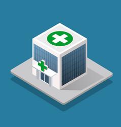 Hospital isometric 3d building vector