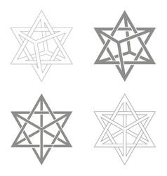 Icon with kabbalah symbol merkaba vector