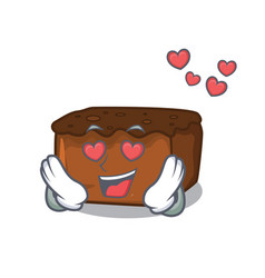 In love brownies mascot cartoon style vector