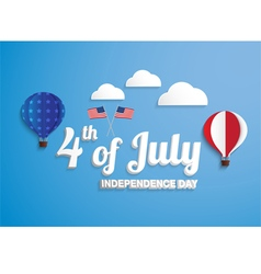 Independence Day 4 th July balloons vector