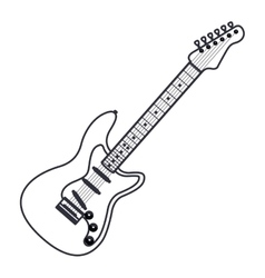 Isolated guitar instrument design vector image