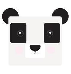 isolated panda face vector image