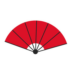 japanese fan folding ornament traditional vector image