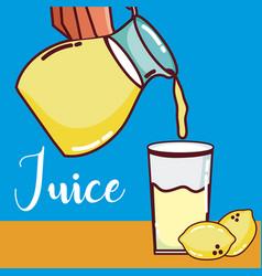 Lemonade fruit juice vector