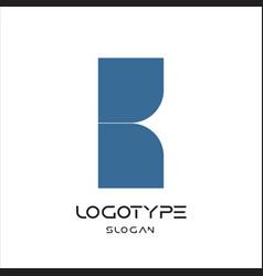 letter k logo geometric monumental label simple vector image