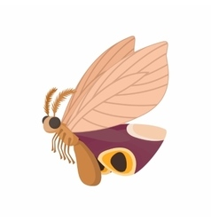 Light brown butterfly icon cartoon style vector