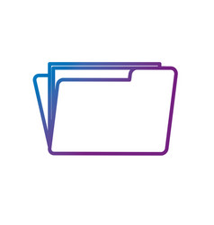 Line folder file with important business documents vector