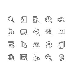 Line search icons vector