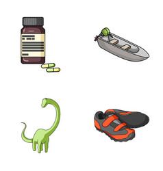 Medicine toy and other web icon in cartoon style vector