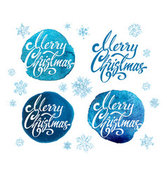 merry christmas labels set greeting card vector image